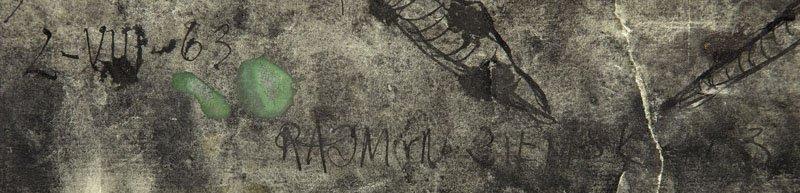 Rajmund Ziemski (1930 - 2005) Composition, 1963, - 2