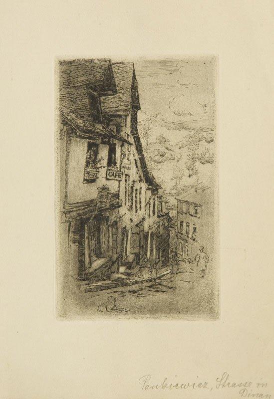 Jozef Pankiewicz (1866 - 1940) Jeruzal Street in Dinan,