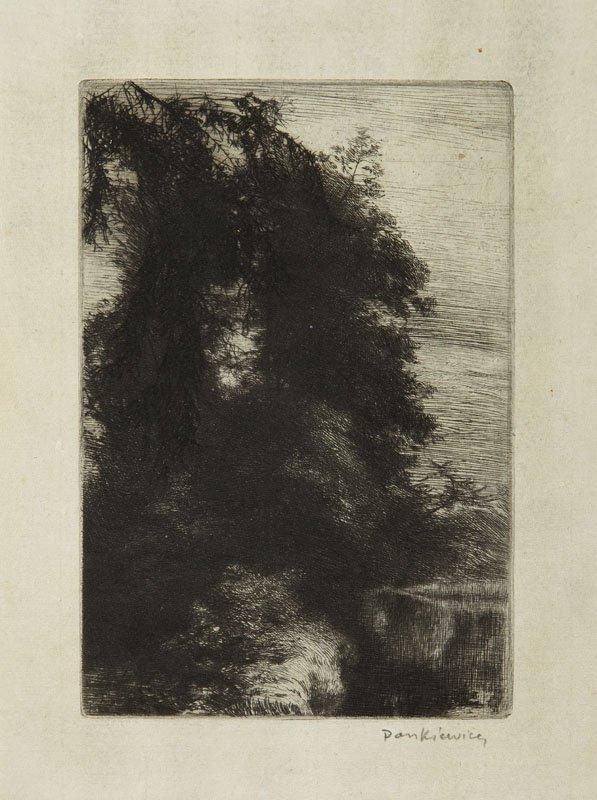 Jozef Pankiewicz (1866 - 1940) Avenue by the water (in
