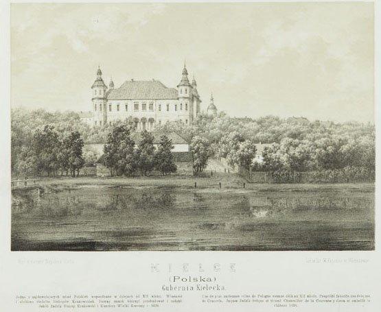 Napoleon Orda (1807 - 1883) Kielce, litography/paper,