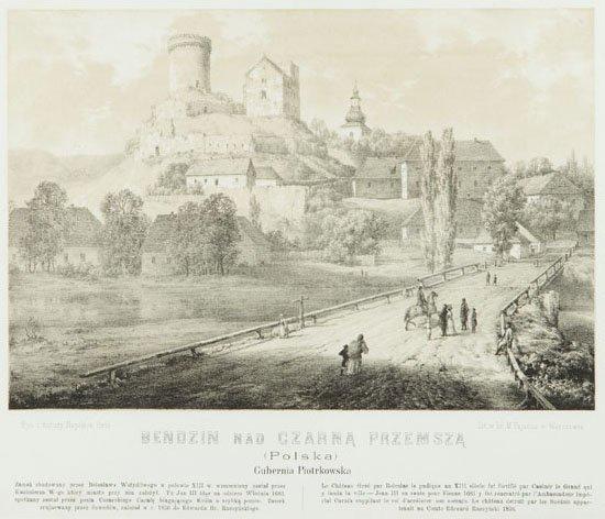 Napoleon Orda (1807 - 1883) Bedzin on Czarna Przemsza,