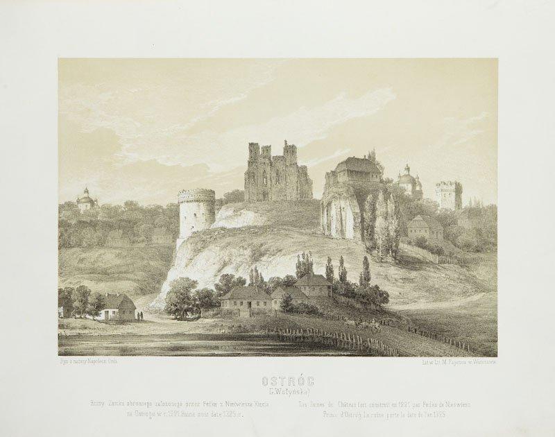 Napoleon Orda (1807 - 1883) Ostrog, litography/paper,