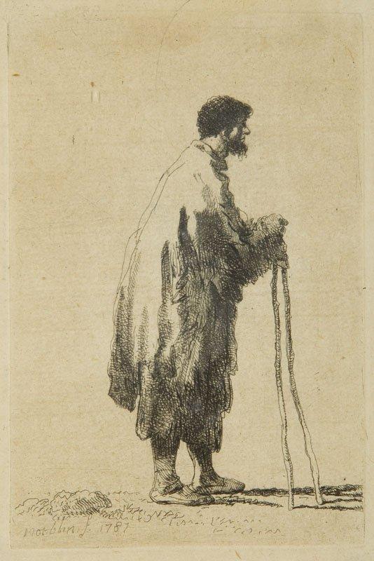 Jan Piotr Norblin de la Gourdaine (1745 - 1830) Beggar