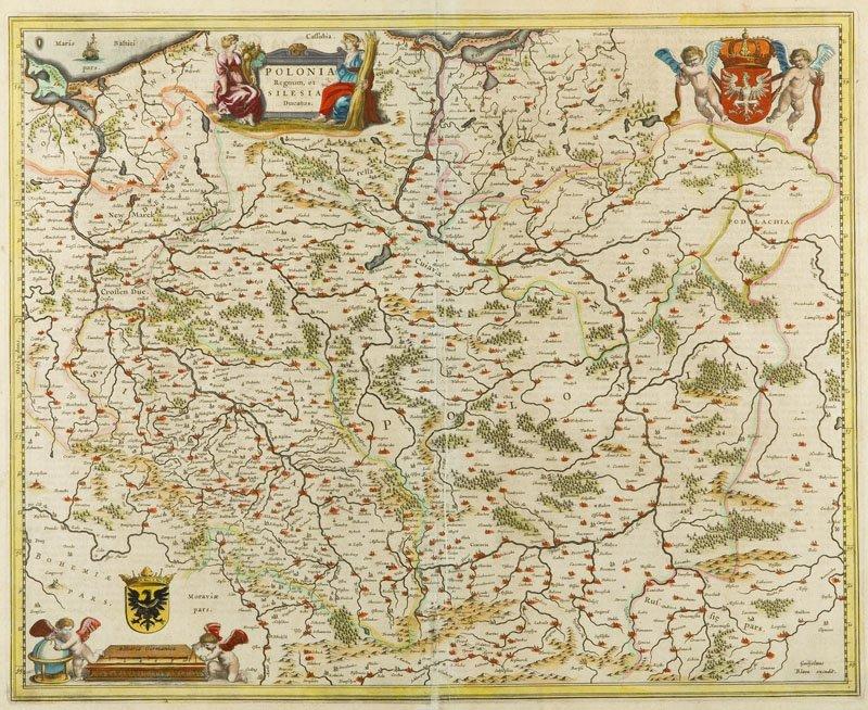Joan Bleau (1596 - 1673) Map - Polonia Regnum et