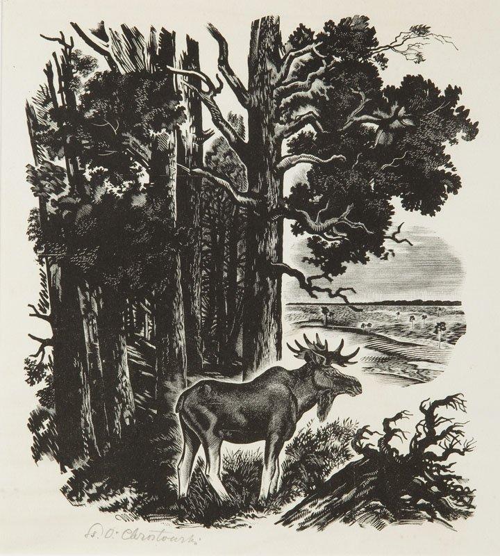 Stanislaw Ostoja - Chrostowski (1897 - 1947) Moose,