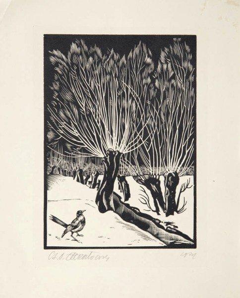 Stanislaw Ostoja - Chrostowski (1897 - 1947) Bird on
