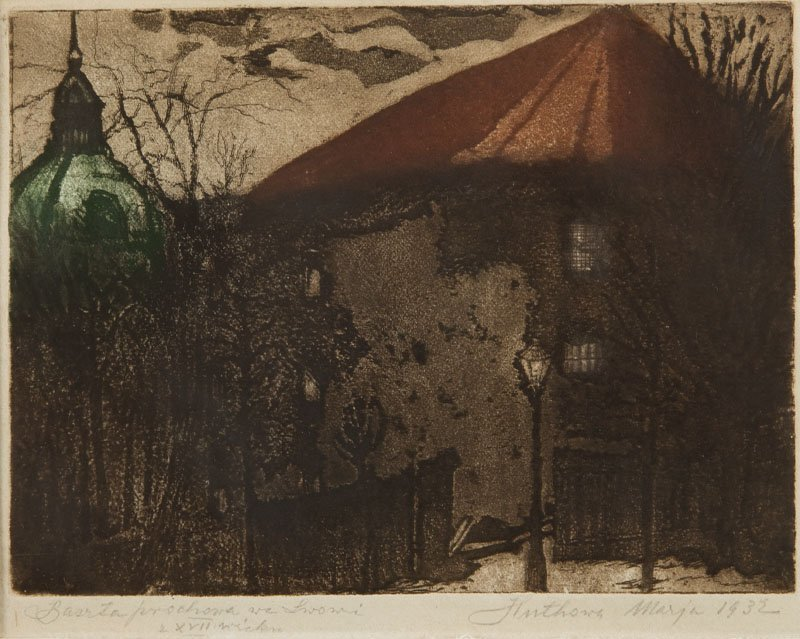Maria Huthowa (1886 - 1974) Tower in Lviv, 1932 ,