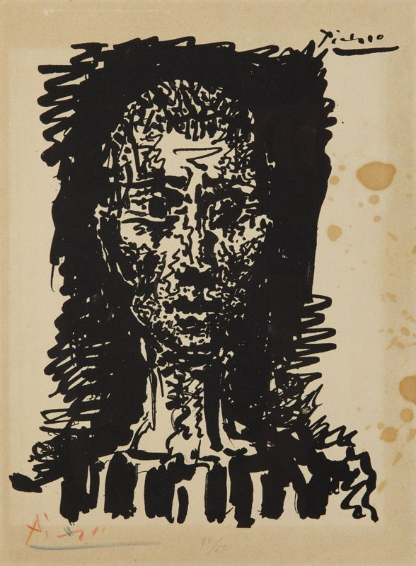 Pablo Picasso (1881 - 1973) The head of on Auschwitz