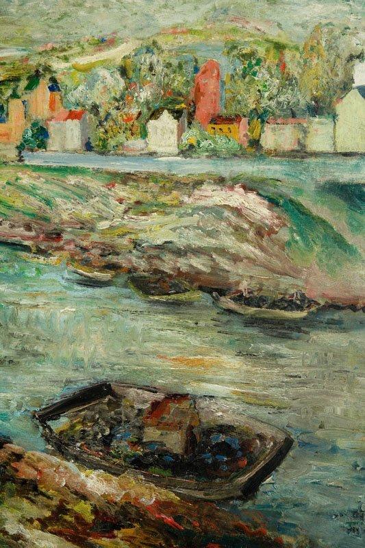 Edward Matuszczak (1906 - 1965) Landscape with boats on - 5