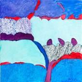 "Tadeusz Dominik (1928 - 2014) ""Blue"", 2012 oil on"