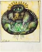Jan Lebenstein (1930 - 1999) Untitled, 1965, mixed
