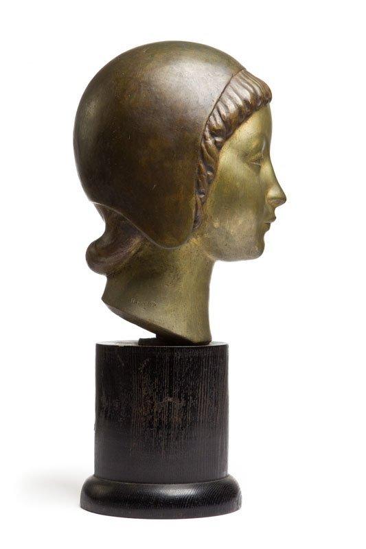 "Henryk Kuna (1879 - 1945) ""Head of a Girl Wearing a - 10"