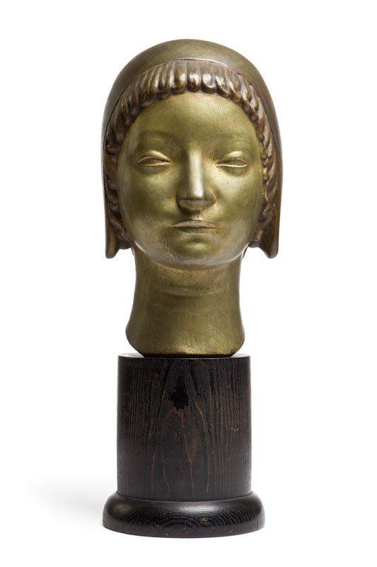 "Henryk Kuna (1879 - 1945) ""Head of a Girl Wearing a"