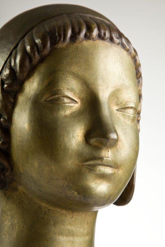 "Henryk Kuna (1879 - 1945) ""Head of a Girl Wearing a - 3"