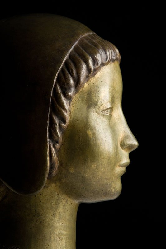 "Henryk Kuna (1879 - 1945) ""Head of a Girl Wearing a - 4"