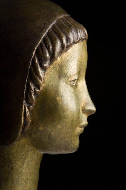 "Henryk Kuna (1879 - 1945) ""Head of a Girl Wearing a - 5"