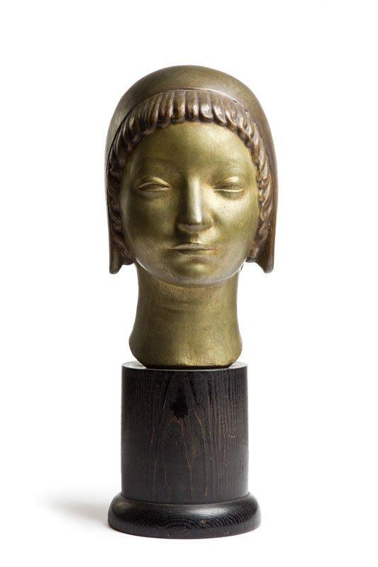 "Henryk Kuna (1879 - 1945) ""Head of a Girl Wearing a - 8"