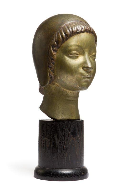 "Henryk Kuna (1879 - 1945) ""Head of a Girl Wearing a - 9"