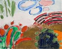 Tadeusz Dominik (1928 - 2014) Landscape; acrylic on