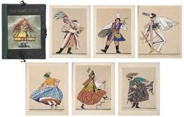 """Zofia Stryjenska (1891 - 1976) Set of graphics """"Polish"""
