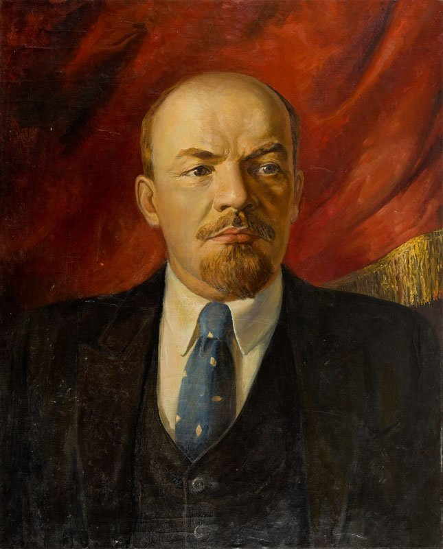 Unknown artist, Portrait of Vladimir Lenin, Mid-20th
