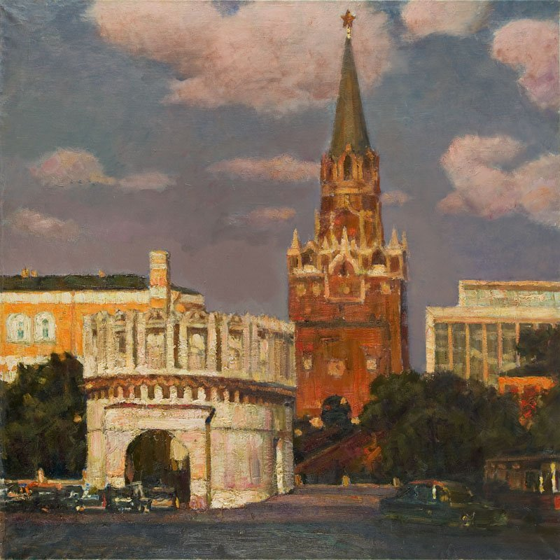 Unknown artist, Red Square, Mid-20th Century, oil on