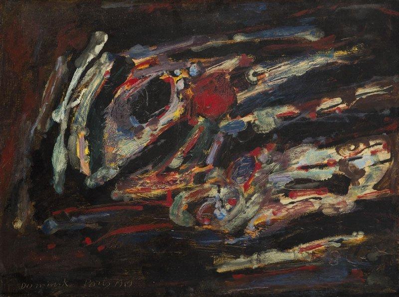 Tadeusz Dominik (1928 - 2014) Composition, 1959; oil on