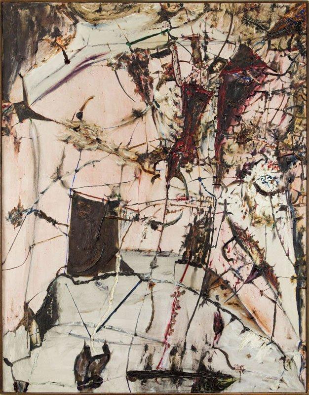 """Tadeusz Brzozowski (1918 - 1987) """"The Wench"""", 1959; oil"""