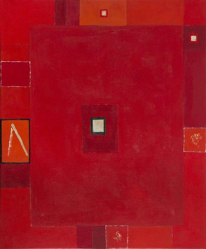 "Jerzy Nowosielski (1923 - 2011) ""Red abstraction II"","