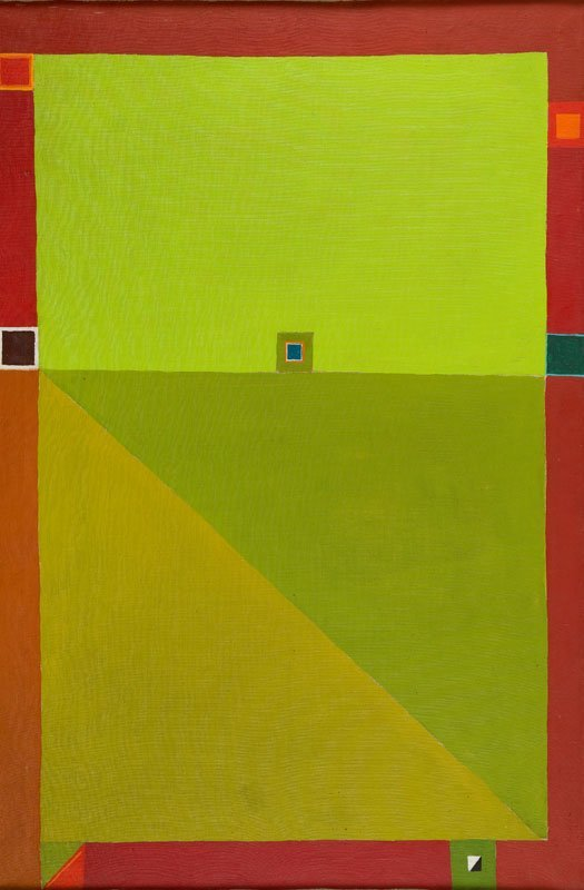 """Jerzy Nowosielski (1923 - 2011) """"Abstract composition"""","""