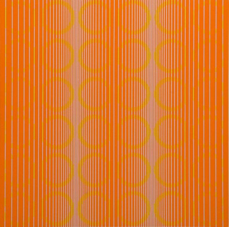 Julian Stanczak (b. 1928) Untitled , 1969; acrylic on