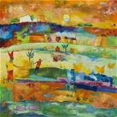 Agnieszka Pawlowska, (b. 1982), Morocco, 2015, oil on