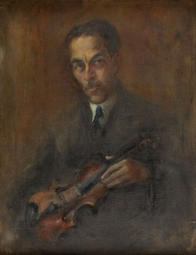 Unknown Artist, 20th Century, Portrait Of Man With