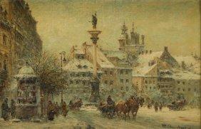 Wladyslaw Chmielinski (1911 - 1979) Castle Square In
