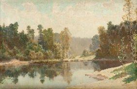 Konstanty Mackiewicz (1894 - 1985) Summer Paysage; Oil