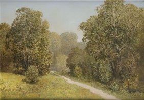 Konstanty Mackiewicz (1894 - 1985) Forest Paysage With