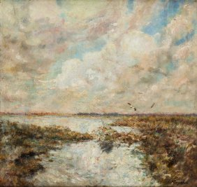 Tadeusz Korpal (1889 - 1977) Near By The Water, Around