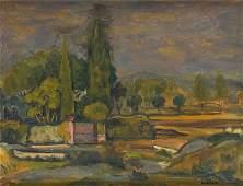 Michel Adlen (1988 - 1962) Paysage from Juan-les-Pins;