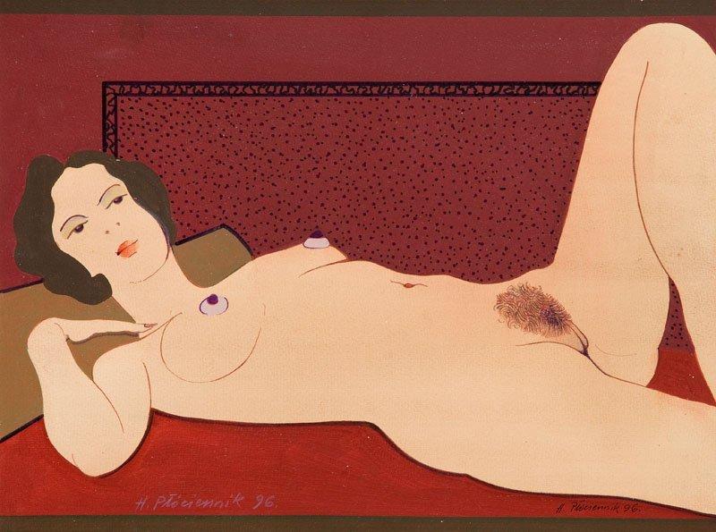 Henryk Plociennik (b. 1933) Lying Nude, 1996;