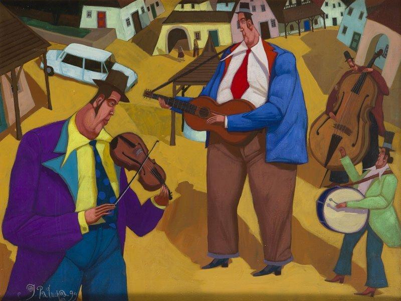 Jacek Palucha (b. 1966) Orchestra, 1999; oil on canvas,