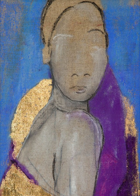 Joanna Sarapata (b. 1962) Female Portrait; acrylic on