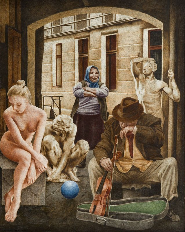 Wieslaw Garbolinski (1927 - 2014) Untitled, 2001; oil