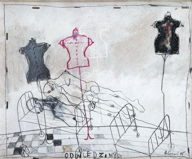 """Henryk Czesnik (b. 1951) """"A Visit"""", 2005; acrylic,"""