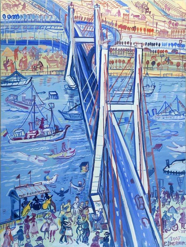 "Edward Dwurnik (b. 1943) ""Siekierkowski Bridge"", 2007;"