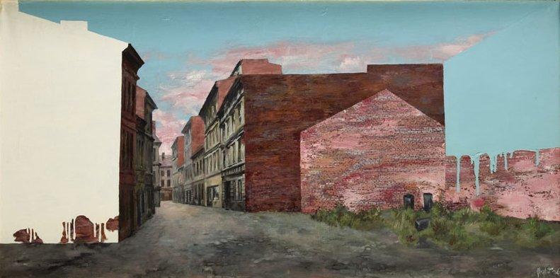 "Zbylut Grzywacz (1939 - 2004) ""Facades"", 1976; oil on"
