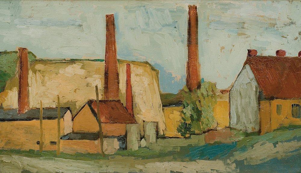 Jerzy Nowosielski (1923 - 2011) Landscape with a