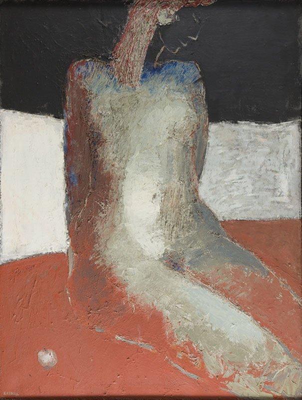 "Zbigniew Cebula (b. 1961) ""Eva"", 2000; oil on canvas,"