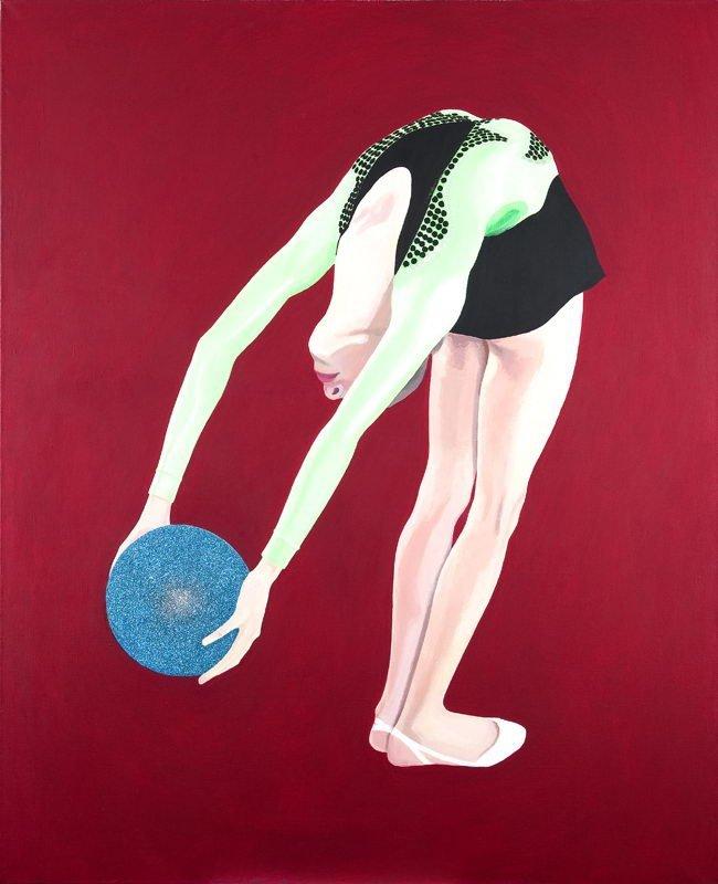 """Malwina Rzonca (b. 1973) """"A Ball I"""", 2004; acrylic,"""