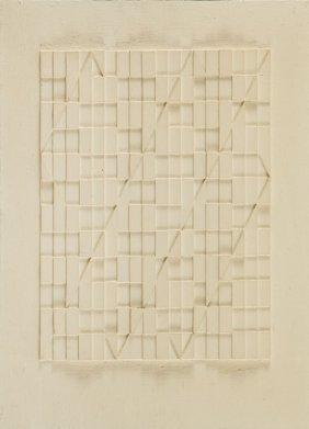 "Janusz Orbitowski (b. 1940) ""9/96"", 1996; Relief,"
