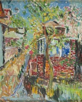 Judyta Sobel (1924 - 2012) Landscape With Tree, 1968;